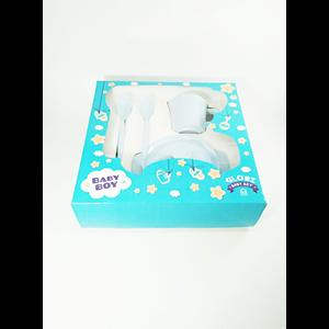 Products and Baby Gear Baby Dinnerware Set (Baby Set Melamine) Glori Melamine SET.001.BM-light blue