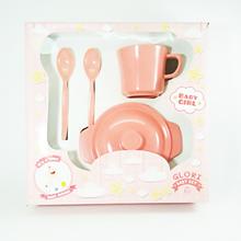 Produk dan Peralatan Bayi Baby Set Melamin (Alat Makan Bayi) Glori Melamine SET.002.BM - Pink