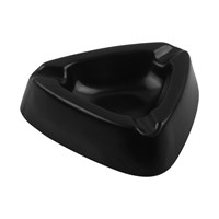 5 inch Black Triangular ashtray-Melamine Ifiancy 3003