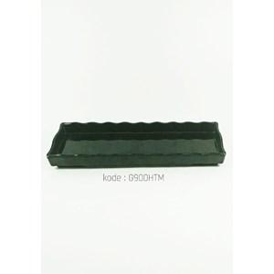 Piring Bumbu Japan (Panjang) 30cm Hitam – Glori Melamine 900