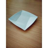 Piring Ceper Segi 4 Oriental 6.5 Inch Putih – Glori Melamine Y4106