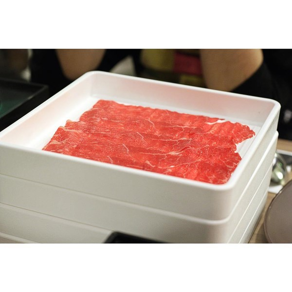 Tempat Daging Shabu 20cm X 20cm X 2cm Putih - Glori Melamine 443