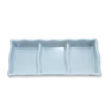 Piring Bumbu Saus Japan (Sekat 3) 18cm Putih – Glo