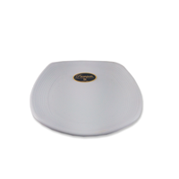 Piring Ceper Segi Empat Ulir 7 inch Putih (Doff) – Glori Melamine G2407PTH