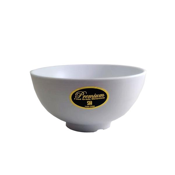 Mangkok Nasi Ulir 6.5 inch Putih (Dove) – Glori Melamine G4065PTH