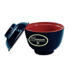 Mangkok Makan Miso + Tutup Merah Hitam ( 2 warna ) - Glori Melamine Y4375  3