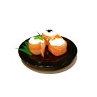 Piring Sushi Bulat 6 inch Hitam - Glori Melamine G2926  2