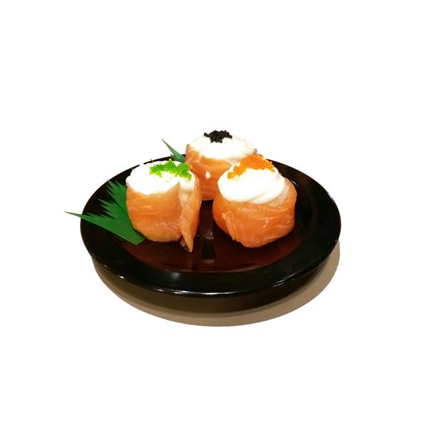 Piring Sushi Bulat 6 inch Hitam - Glori Melamine G2926