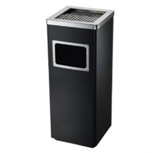 Tempat Sampah Publik Standing Ashtray Kotak Ukuran 24x24x62