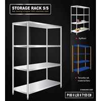 Storage Rack Slotted Board Type Model Permanen