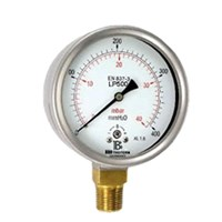 Pressure gauge with capsule element 1