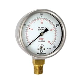 Pressure gauge with capsule element