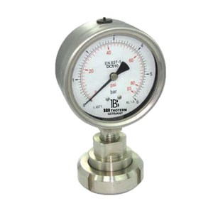 All stainless steel pressure gauge with Sanitary diaphragm seal