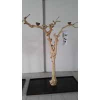 Kerajinan Kayu Javawood Playstand Coffee Tree Bird Perch Multi Branches Parrot Stand Java Wood Branch