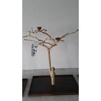 Distributor Kerajinan Kayu Javawood Playstand Coffee Tree Bird Perch Multi Branches Parrot Stand Java Wood Branch 3