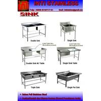 Meja Cuci Sink Atau Wastafel Stainless Steel