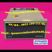 Beli M4Y-DV-4 4VA panel meter merk Autonics 4