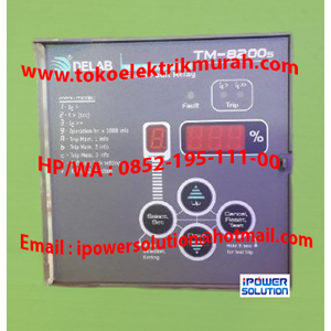 From  Earth Fault Relay   Type TM-8200s  DELAB 1