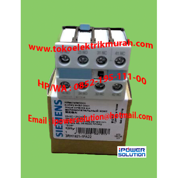 SIEMENS Type 3RH1921-1FA22  10A Auxiliary Contact