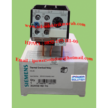 Siemens Tipe 3UA50-40-1G  3A Thermal Overload Relay