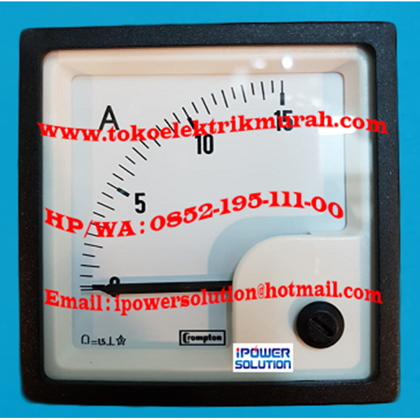 Crompton E243-01A-G-ND-ND Amperemeter