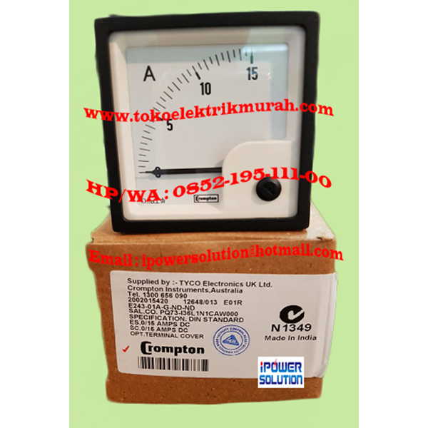 E243-01A-G-ND-ND  Crompton Amperemeter