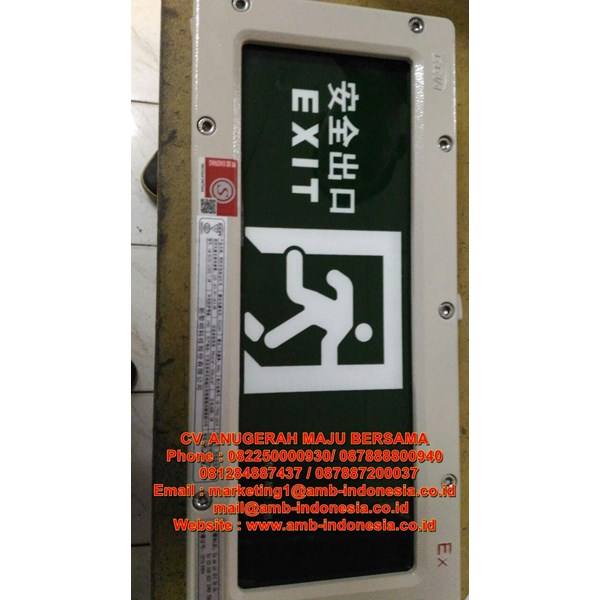 Lampu Explosion Proof Emergency Lamp Exit Lamp  HRLM BYY Exit Lamp