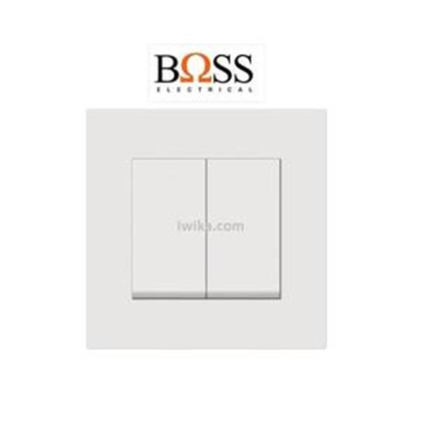 Saklar Boss 2 Gang 2 Way Switch B1032/2/3A