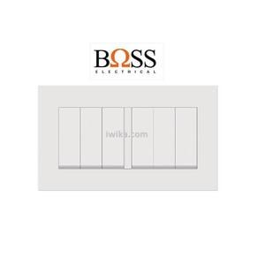 Saklar Boss 6 Gang 1 Way Switch BT1036/1/2A