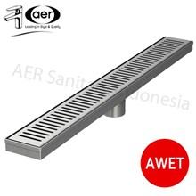 Aer Saringan Pembuangan Air Di Lantai Linear - Linear Floor Strainer Lfs 05 Ss W 70 Cm