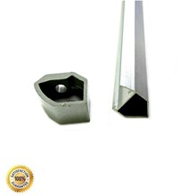 HOUSING LED ETALASE 1 METER-ALUMUNIUM NON COVER 45 DERAJAT