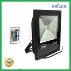 Lampu LED Floodlight Slim Sorot 50W 220V RGB dan Remote 24 Key 1