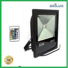 Lampu LED Floodlight Slim Sorot 50W 220V RGB dan R