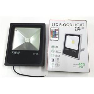 Lampu LED FLOODLIGHT TEMBAK SLIM 50 WATT RGB