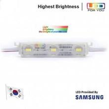 LED Module Korea Samsung LFU 3 Mata Smd 5630 12V Waterproof dan Lensa