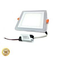 Lampu LED Panel Kotak 2 Warna 12W dan 3W Biru