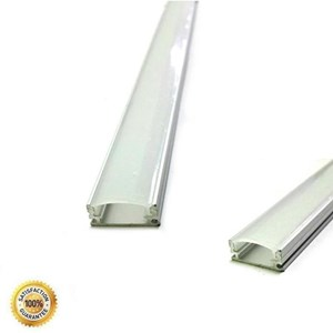 Lampu Led Housing Aluminium + Cover Type A - 1M ( Khusus LED Strip & LED Batang )