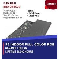 Jual LAMPU LED PANEL MODUL P5 FLEXIBLE INDOOR RGB - FULL COLOR HUB 75 - K10