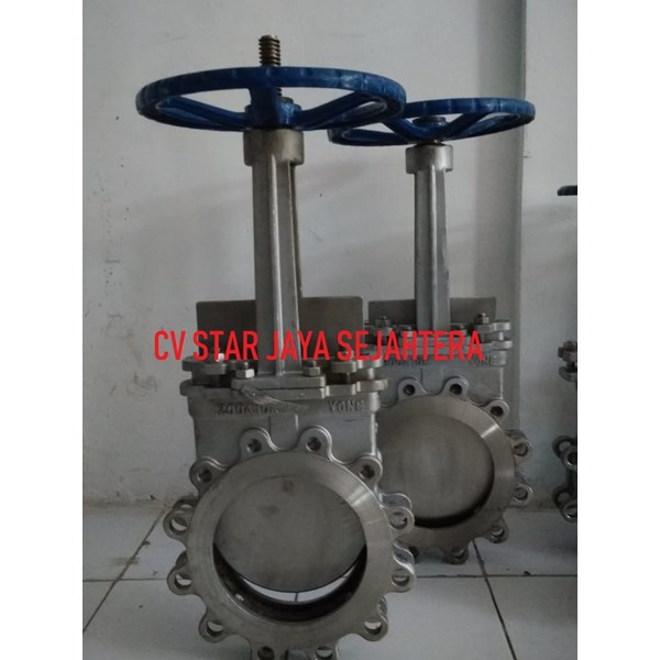 Knife gate valve murah Stainless