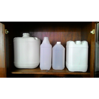 Plastic jerry cans are white HDPE plastic