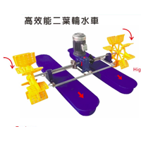 High Efficiency 2-Wheel Paddle Wheel KA-002