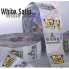 Label Print White Satin 1