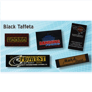 Label Black Taffeta