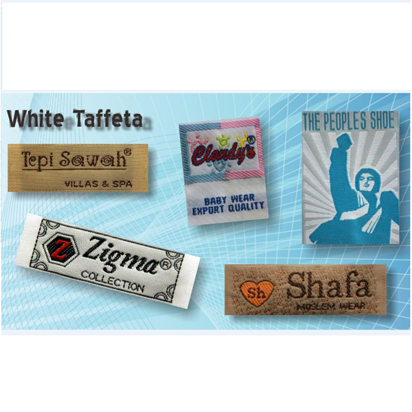 Label White Taffeta