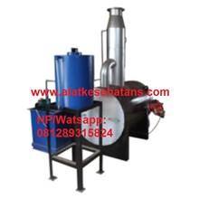 mesin incinerator single burner with scrubber