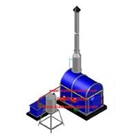 pabrik mesin incinerator double burner tangga kapasitas 75 kg per jam
