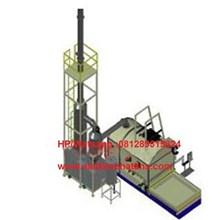 pabrik mesin incinerator double burner kapasitas 250 kg per hari bagus