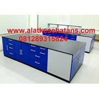Pabrik Meja Laboratorium Ruangan Tengah polos meja Granite 1