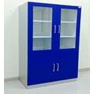 Lemari Laboratorium Penyimpanan Bahan Kimia atau Alat Lab atau Glassware bogor kualittas bagus