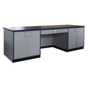 Pabrik meja Kerja boratorium Personal polos atau Chief Lab Table